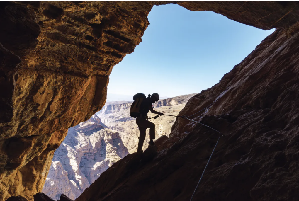 The Alila Experience's Cave Adventure Via Ferrata in Oman is for the adventurous Credits: Alila Jabal Akhdar