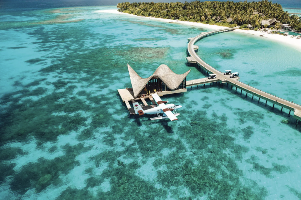 Joali Maldives is a high-end resort and immersive art experience at the same time.