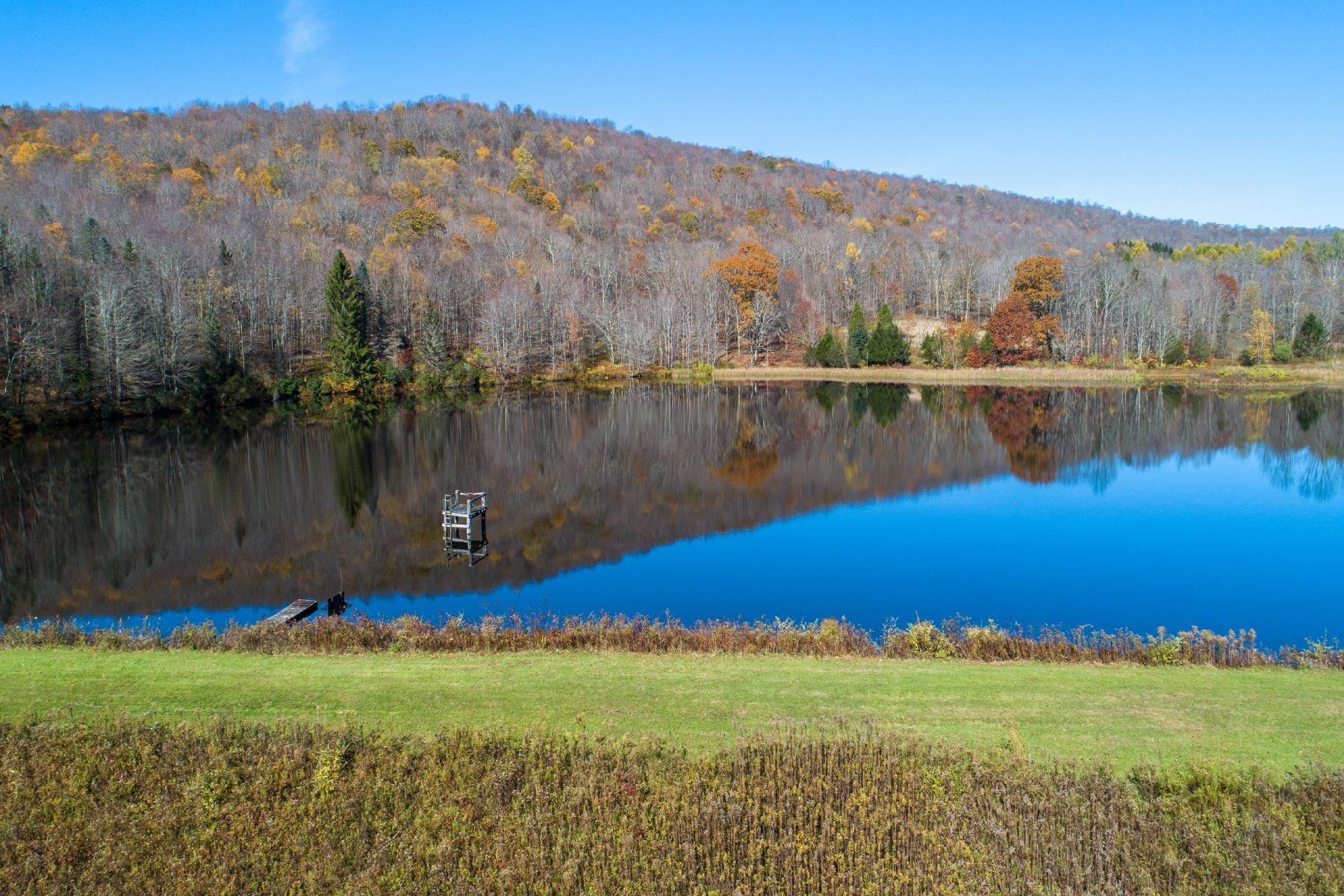 7. Single Family Homes for Sale at Realty Exceeds the Dreams on 17 Acre Private Lake 444 Skunk Hollow Road, Off Fall Clove Rd Andes, New York 13731 United States