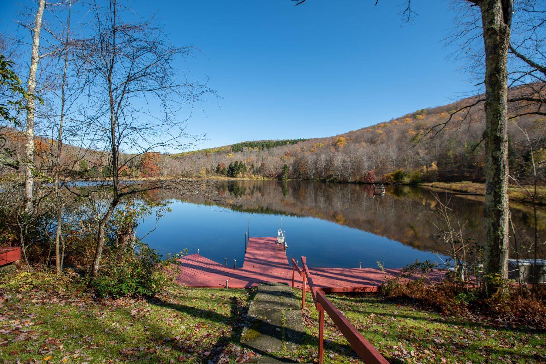 2. Single Family Homes for Sale at Realty Exceeds the Dreams on 17 Acre Private Lake 444 Skunk Hollow Road, Off Fall Clove Rd Andes, New York 13731 United States