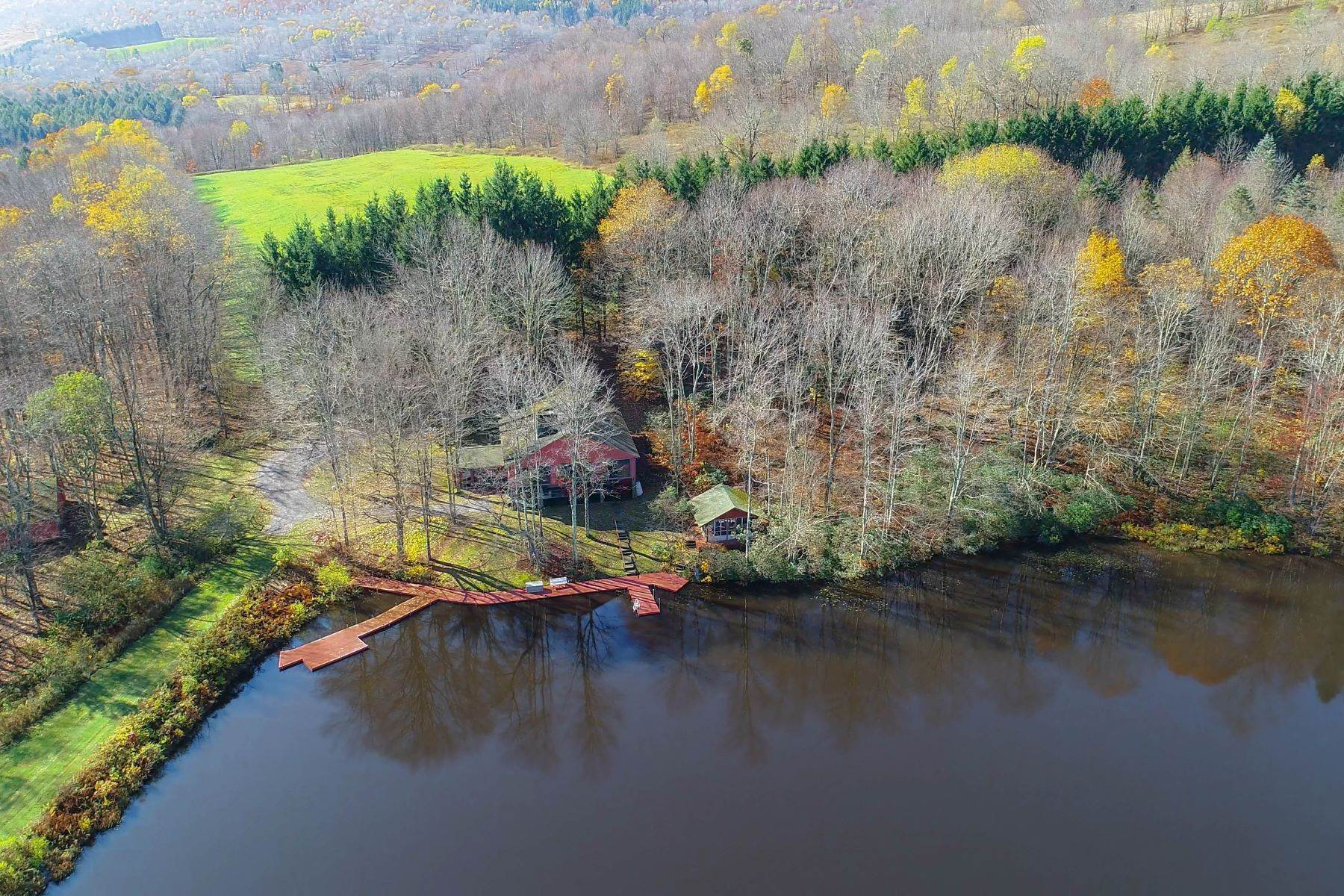 9. Single Family Homes for Sale at Realty Exceeds the Dreams on 17 Acre Private Lake 444 Skunk Hollow Road, Off Fall Clove Rd Andes, New York 13731 United States