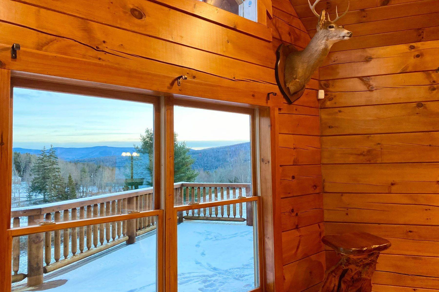 14. Single Family Homes for Sale at Timeless Luxury Yellow Pines Log Cabin 241 Campbell Road Windham, New York 12496 United States