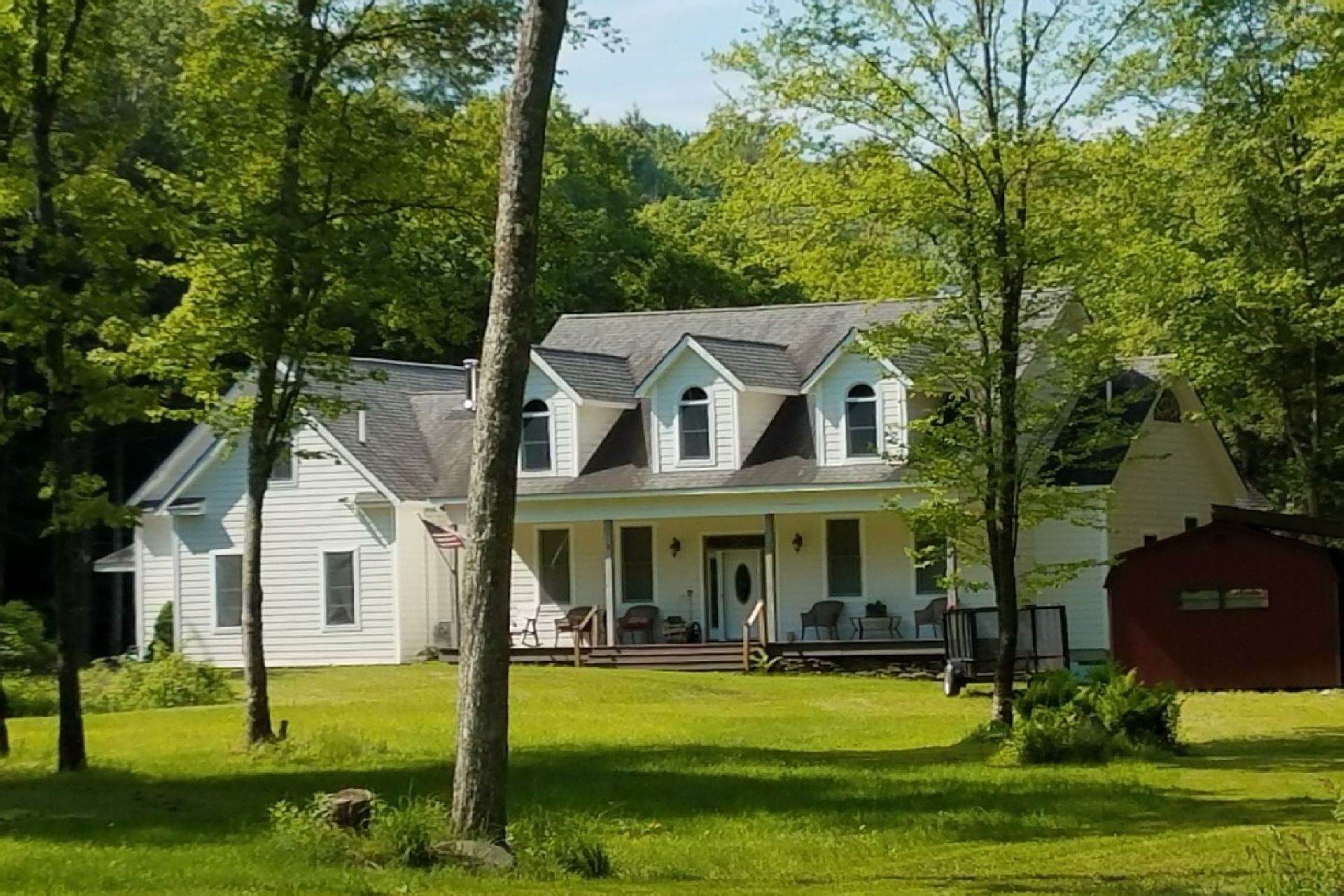 Multi-Family Homes for Sale at Hidden luxury in the forest near Belleayre Skiing 395 Roaring Brook Lane, Above the Owl's Nest in Highmount Highmount, New York 12441 United States
