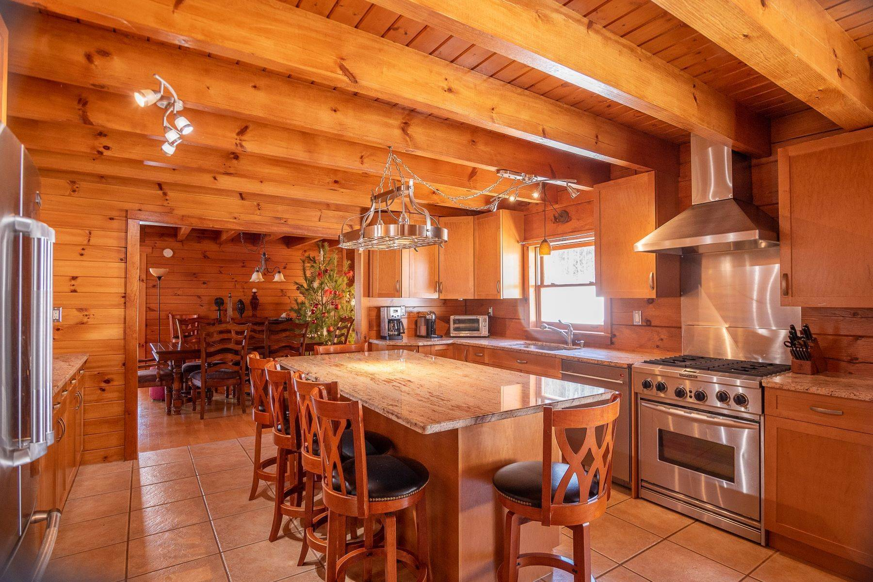 20. Single Family Homes for Sale at Timeless Luxury Yellow Pines Log Cabin 241 Campbell Road Windham, New York 12496 United States